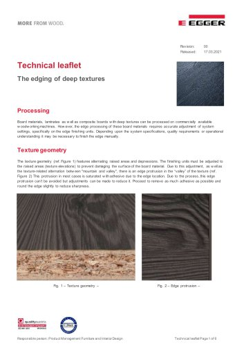 The edging of deep textures