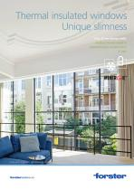 forster unico XS: Thermal insulated windows - unique slimness