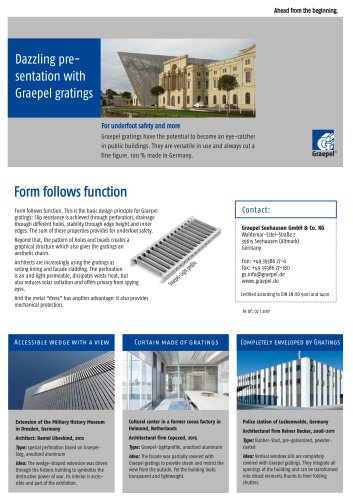 Graepel-Gratings for Facade Cladding
