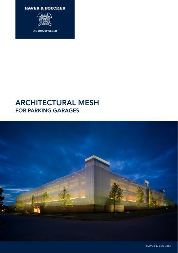 Architectural Mesh for Parking Garages.