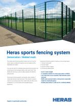 Heras sports fencing system
