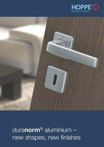 HOPPE - duranorm® Aluminium - new shapes, new finishes