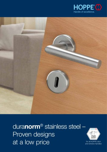HOPPE - duranorm® Stainless steel - Proven designs at a low price