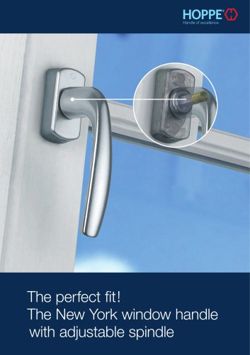 The New York window handle with adjustable spindle