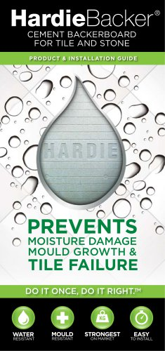 HardieBacker® CEMENT BACKERBOARD FOR TILE AND STONE