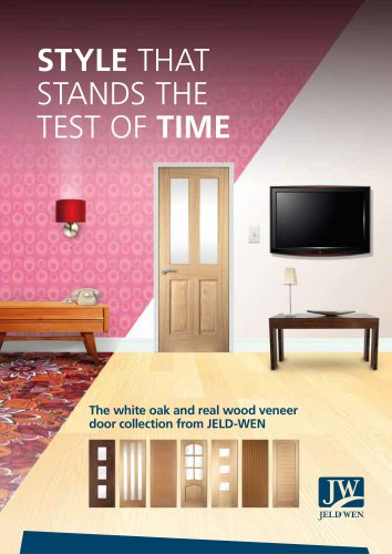JELD-WEN UK - White Oak and Veneer Door Brochure