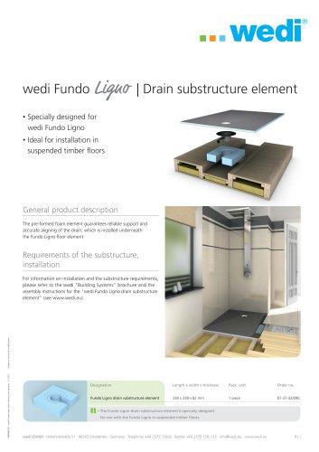 Ligno drain substructure element