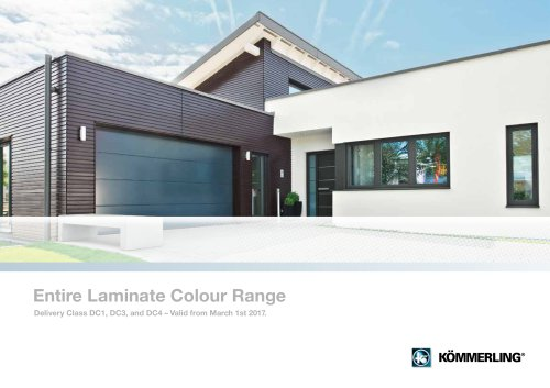 Entire Laminate Colour Range Delivery Class DC1, DC3, and DC4 – Valid from March 1st 2017.
