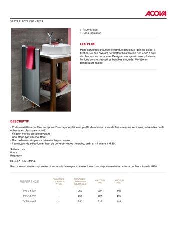 All Acova Catalogs And Technical Brochures