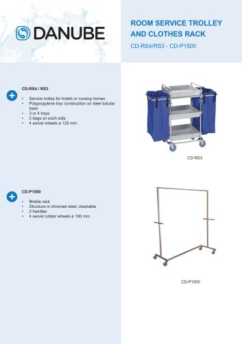 ROOM SERVICE TROLLEY AND CLOTHES RACK