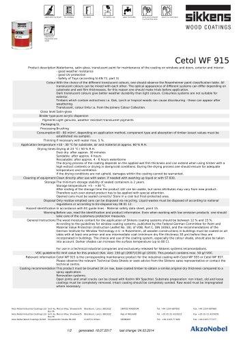 CETOL® WF 915