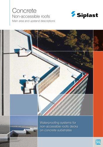 Concrete - Non-accessible roofs