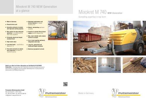 Mixokret M 740 NEW Generation