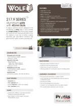 217.9 SERIES aluminium gate with 40 mm slats