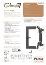 Canberra® handles without base plate and invisible hinges