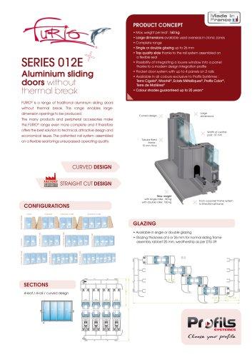 Furio® aluminium sliding door without thermal break