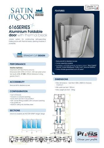 Satin Moon® aluminium foldable door