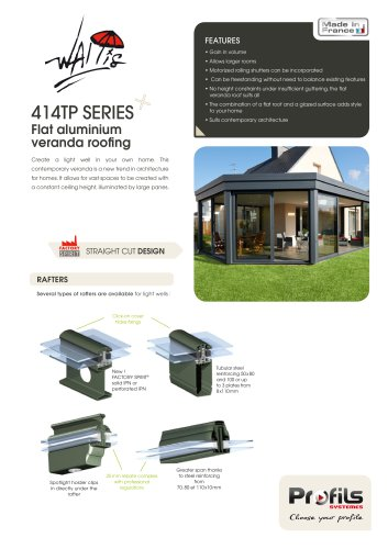 Wallis® flat aluminium veranda roofing