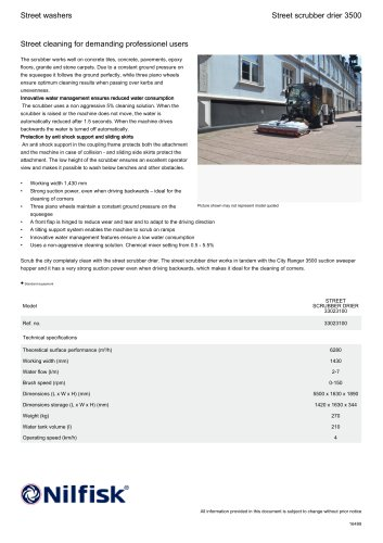 Street scrubber drier 3500