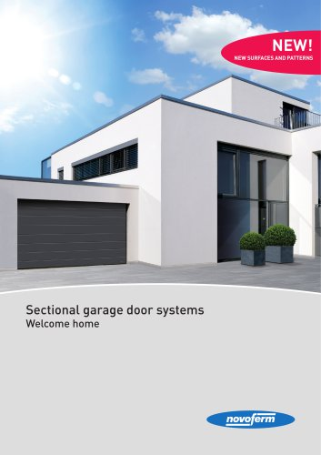 Sectional garage door systems. Welcome home