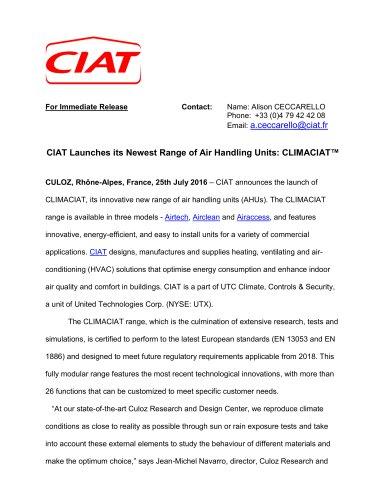 Air Handling Units: CLIMACIAT™