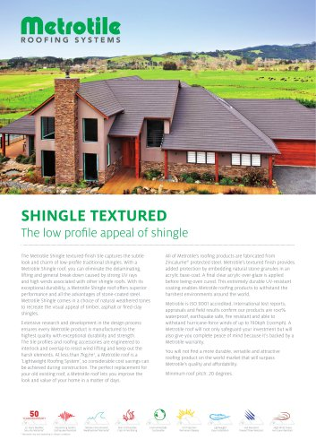 Shingle textured