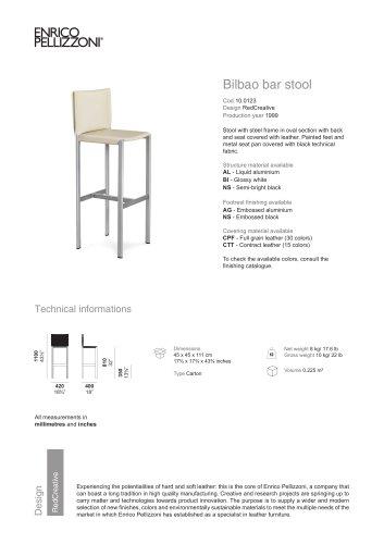 Bilbao bar stool