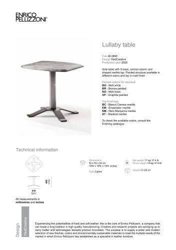Lullaby table