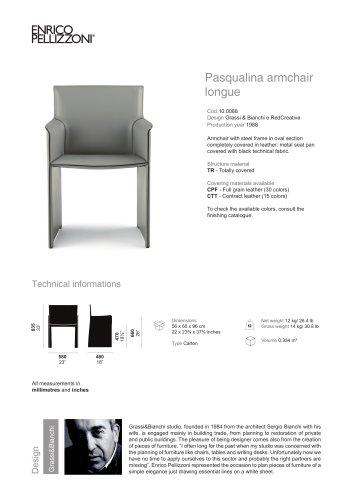 Pasqualina armchair longue