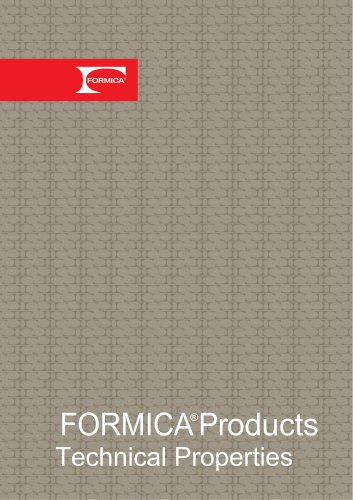 FORMICA ®Products Technical Properties