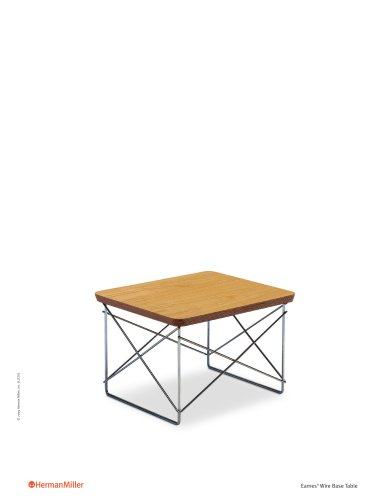 Eames Wire-Base Table Product Sheet
