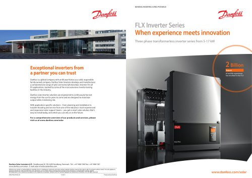 FLX Inverter Series - When experience meets innovation