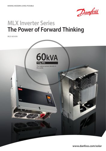 MLX Inverter Series - The Power of Forward Thinking
