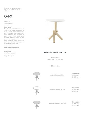 O-I-X Table