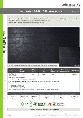GALLERIA - SPRUCE GRID BLACK
