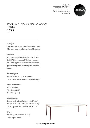 PANTON MOVE PLYWOOD TABLE