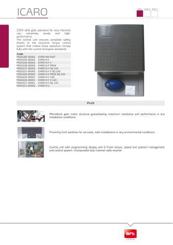 ICARO - Bft - PDF Catalogs   Documentation   Brochures