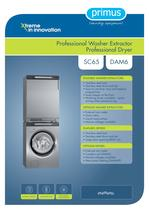 Professional Washer Extractor Professional Dryer SC65 DAM6