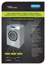 Washer extractors  RX350 RX520