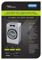 Washer extractors RX80 RX105 RX135