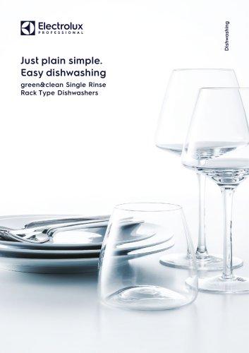 Electrolux Professional green&clean Single Rinse Rack Type Dishwashers