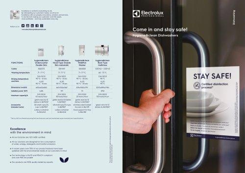 Electrolux Professional hygiene&clean dishwashers
