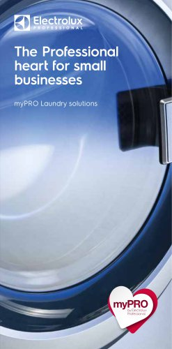 Electrolux Professional myPRO for small businesses