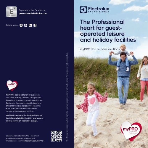Electrolux Professional myPROzip Beach