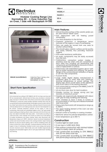 Modular Cooking Range Line thermaline 80