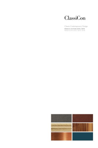 ClassiCon Classic Contemporary Design Material and Colour 2015 / 2016