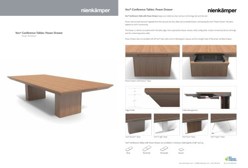 Vox® Conference Tables: Power Drawer