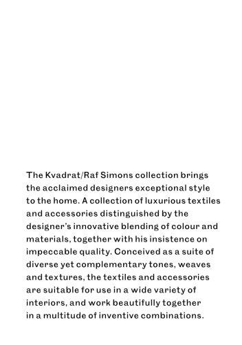 Kvadrat/Raf Simons accessories collection 2018