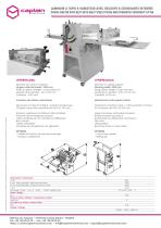 DOUGH SHEETER WITH BELTS WITH MULTI SPEED SYSTEM AND INTEGRATED CROISSANT CUTTER - 1