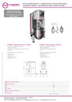 PLANETARY MIXER - MECHANICAL MULTI SPEED SYSTEM - 1
